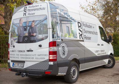Autobeschriftung RSR Rollladen und Sonnenschutz Reiser