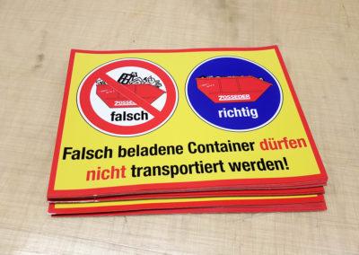 Individuelle Aufkleber mit Schutzlaminat Zosseder Container