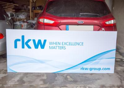 Werbebande RKW Wasserburg Basketball