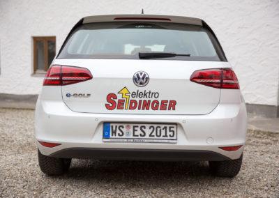Autobeschriftung Seidinger e-Golf