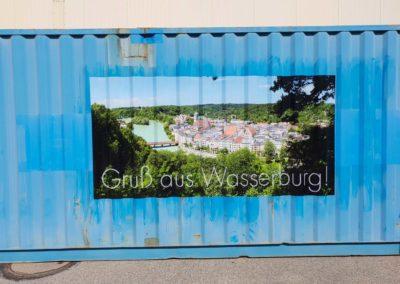 Container Beschriftung Thomas Brei Werbetechnik Digitaldruck Gigapixel Wasserburg