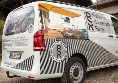 Autobeschriftung Fahrzeugbeschriftung Beschriftung Rollladen und Sonnenschutz Reiser Wasserburg Brei Werbetechnik