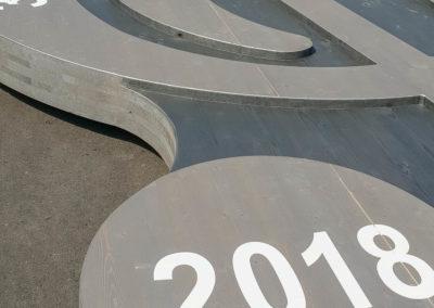 Malerschablone Notenschlüssel Musifest Griesstätt 2018 Brei Werbetechnik