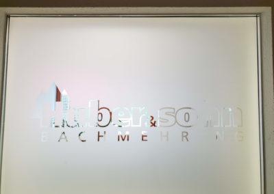 Glasdekorfolie Huber und Sohn Bachmehring