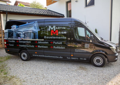 Autobeschriftung Fahrzeugbeschriftung Martin Maier Bauelemente Brei Werbetechnik Wasserburg