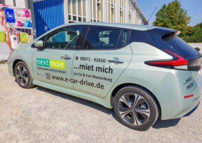 Autobeschriftung Fahrzeugbeschriftung Fit und Fun Wasserburg Brei Werbetechnik