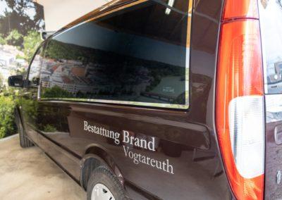 Autobeschriftung Bestattung Brand Vogtareuth