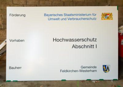 Bauschild Feldkirchen-Westerham Brei Werbetechnik Wasserburg