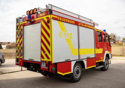 Beschriftung Feuerwehrauto Feuerwehr Reitmehring Wasserburg