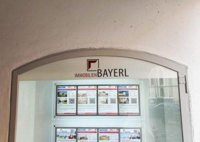 Schaufensterbeschriftung Bayerl Wasserburg