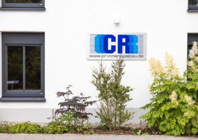 Schild Firmenschild CR Innenausbau Amerang