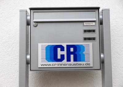 Schild Briefkastenschild CR Innenausbau Amerang