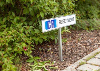 Schild Parkplatzschild CR Innenausbau Amerang