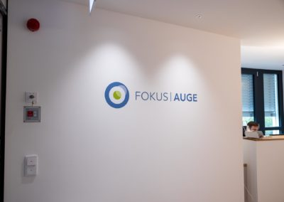 Fokus Auge Wandtattoo Medical Cube Rosenheim