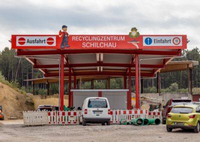 Beschilderung Schilder Recyclingzentrum Schilchau Wasserburg