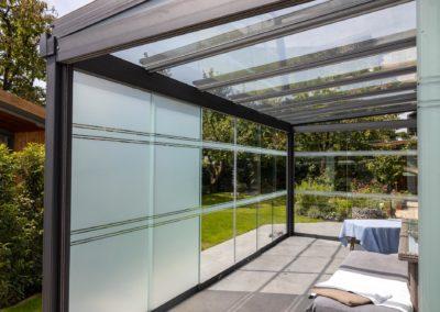 Folierung Sichtschutzfolie Milchglasfolie Terrassendach Haag