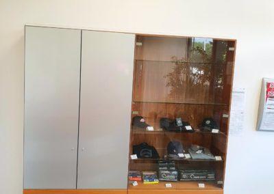 Folierung Glasschrank silber Brummi-Center Wasserburg
