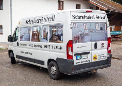 Fahrzeugbeschriftung Schreinerei Strell Amerang