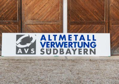 Schild XXL Altmetallverwertung Südbayern Wasserburg