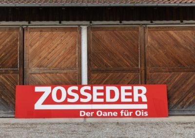 Firmenschild XXL Zosseder Wasserburg