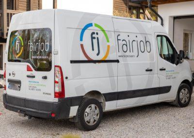 Fahrzeugbeschriftung Fairjob Attl Wasserburg