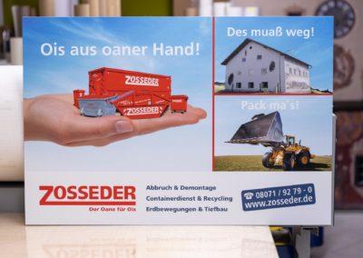 Schild Zosseder Wasserburg Eiselfing