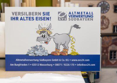 Firmenschild Altmetallverwertung Südbayern Wasserburg