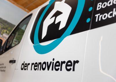 Fahrzeugbeschriftung der Renovierer Wasserburg