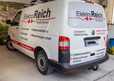 Fahrzeugbeschriftung Elektro Reich Eiselfing