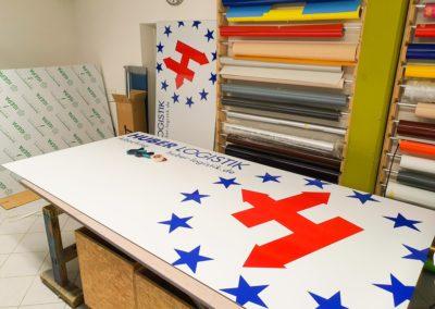 Firmenschilder XXL Huber Logistik Albaching