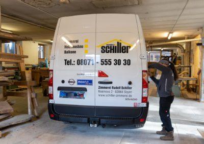 Fahrzeugbeschriftung Zimmerei Schiller Soyen