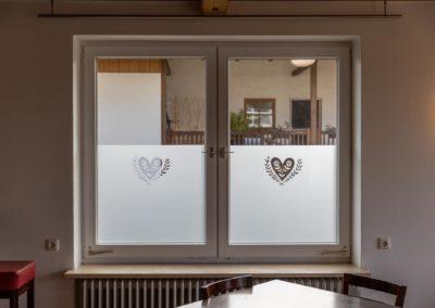Glasdekorfolie Schichtschutzfolie mit Logo Soyen
