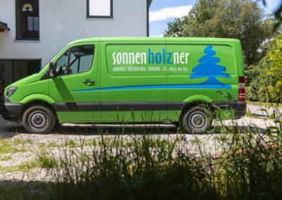 Fahrzeugbeschriftung Zimmerei Sonnenholzner Amerang