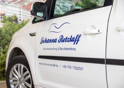 Autobeschriftung Johanna Retzlaff Wasserburg