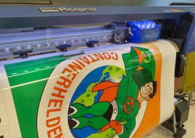 Digitaldruck XL Aufkleber Containerhelden Rosenheim