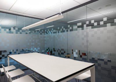 Sichtschutzfolierung Glasdekorfolie Büro Amerang