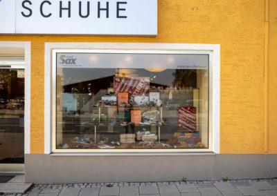Schaufensterbeschriftung Josef Sax Haag
