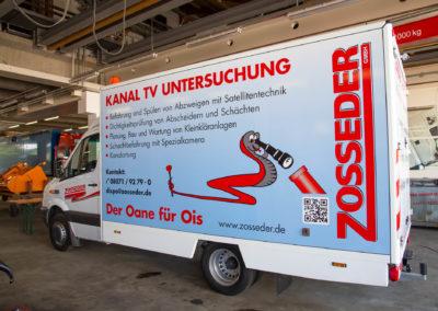 Fahrzeugbeschriftung Zosseder Kamerawagen Wasserburg