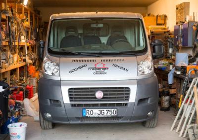Fahrzeugbeschriftung Freiberger Bau Edling Wasserburg