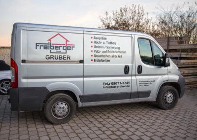 Fahrzeugbeschriftung Freiberger Bau GmbH Edling