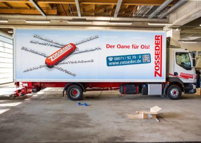 Fahrzeugbeschriftung LKW Zosseder Wasserburg