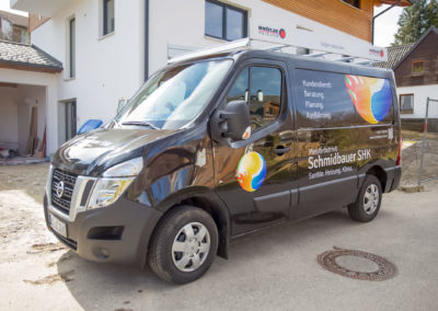 Fahrzeugbeschriftung Schmidbauer SHK Wasserburg