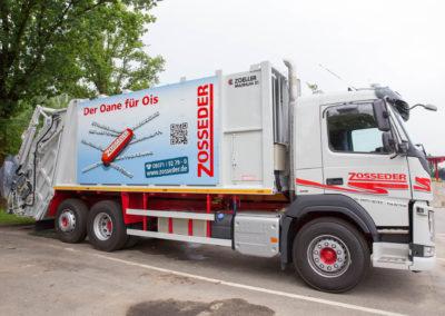 Fahrzeugbeschriftung Schild LKW Zosseder Wasserburg