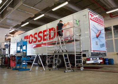 Fahrzeugbeschriftung Lastwagen Zosseder Wasserburg