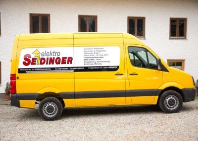 Fahrzeugbeschriftung Elektro Seidinger Wasserburg Bachmehring