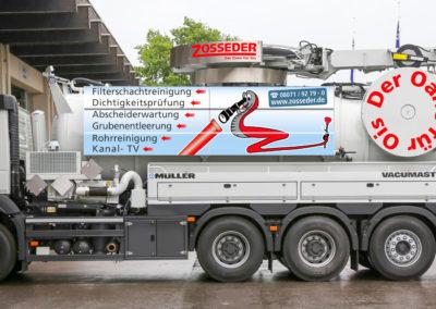 Zosseder Fahrzeugbeschriftung Saugwagen Wasserburg
