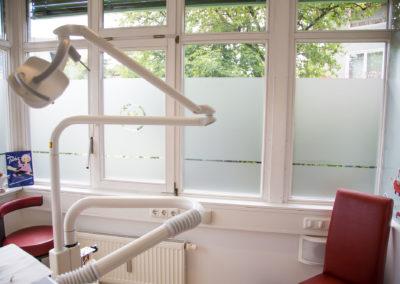 Fensterfolierung Sichtschutz Zahnarzt Obing