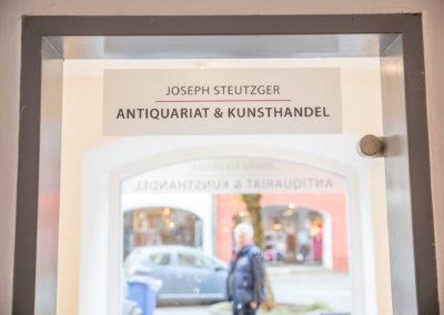 Schaufensterbeschriftung Joseph Steutzger Wasserburg
