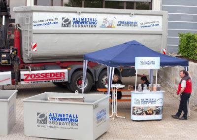 Beschriftung Altmetallverwertung Südbayern AVS Wasserburg