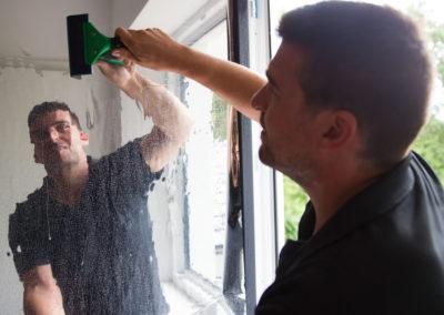 Fensterfolierung mit Hitzeschutzfolie Speisekammer